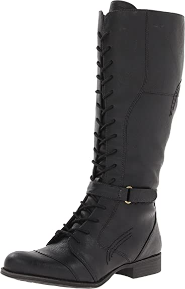 Womens Boots Naturalizer Jakes Wide Shaft Boot Black Wide Shaft Smooth