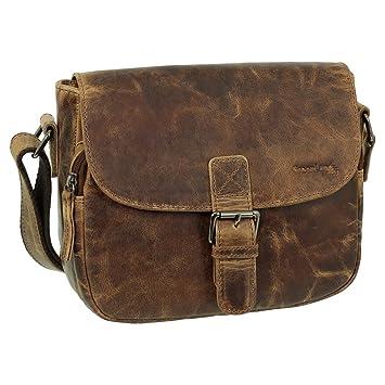 a8711c25908f9 Geschenkset - Luxus Leder Damen Umhängetasche Schultertasche Messenger  Tasche 25 cm Farbe braun