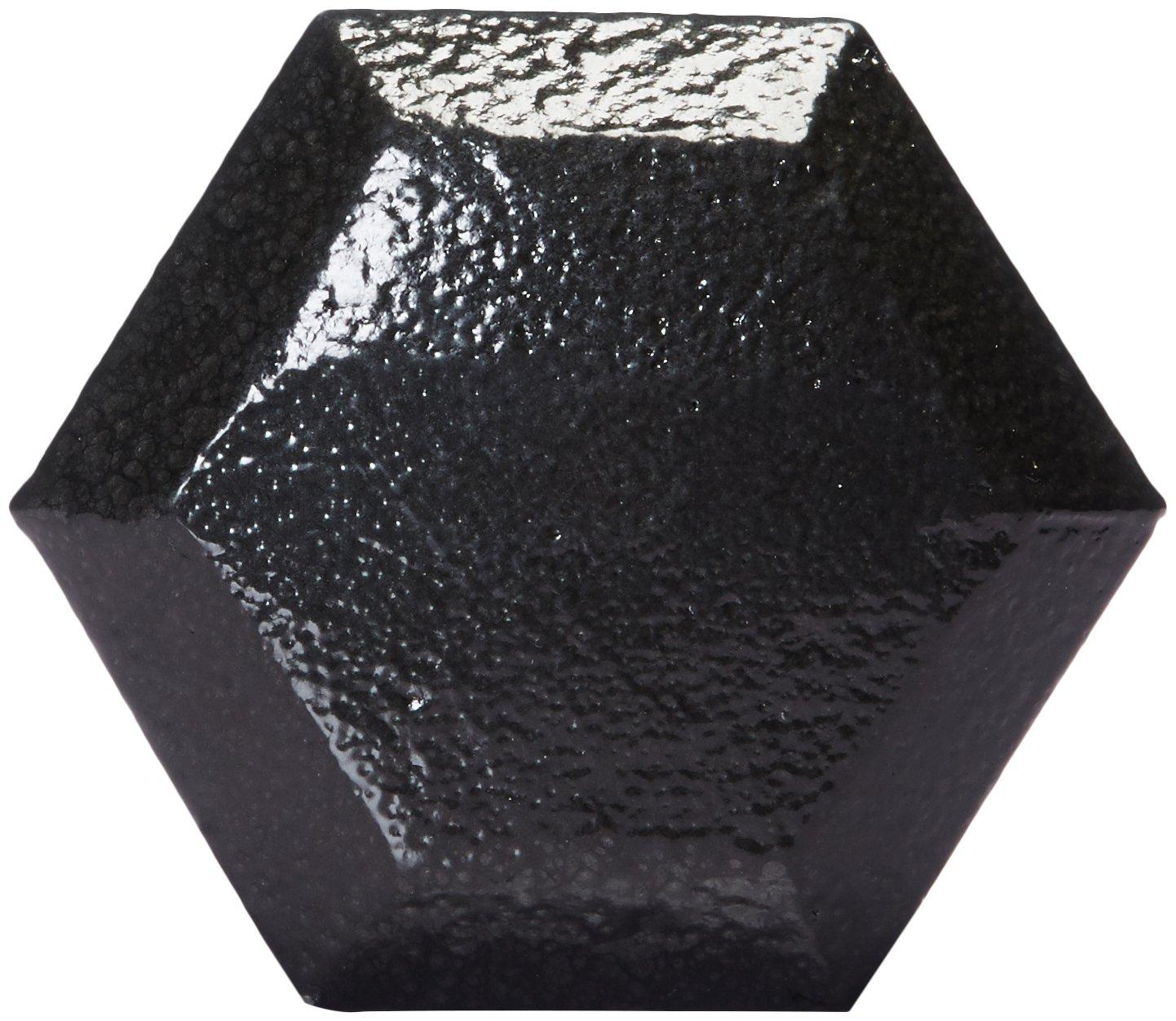 AmazonBasics Cast Iron Hex Dumbbell Weight - 13.4 x 6 x 5.6 Inches, 50 Pounds, Black by AmazonBasics