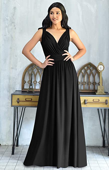 8acf464a46 KOH KOH Womens Long Sleeveless Flowy Bridesmaid Cocktail Evening Gown Maxi  Dress at Amazon Women's Clothing store:
