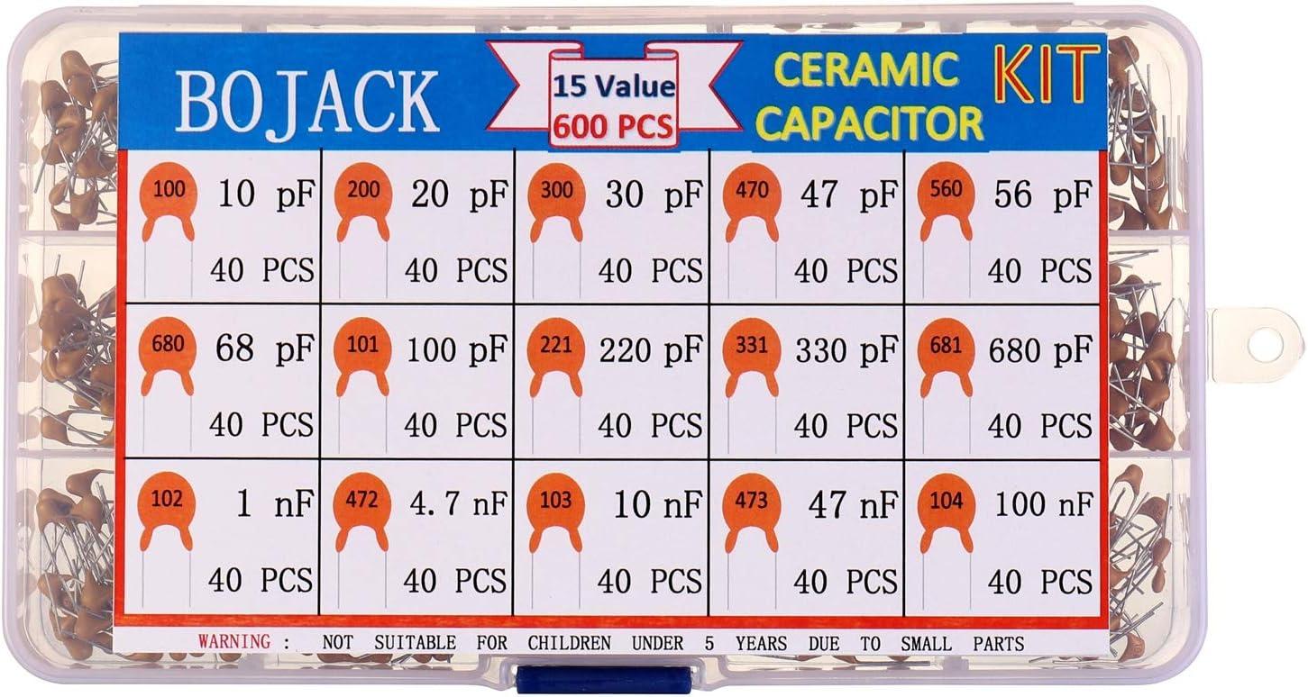 300 Keramik Kondensator 10 Werte je 30Stk Sortiment 10pf~100nf 50V Kondensatoren