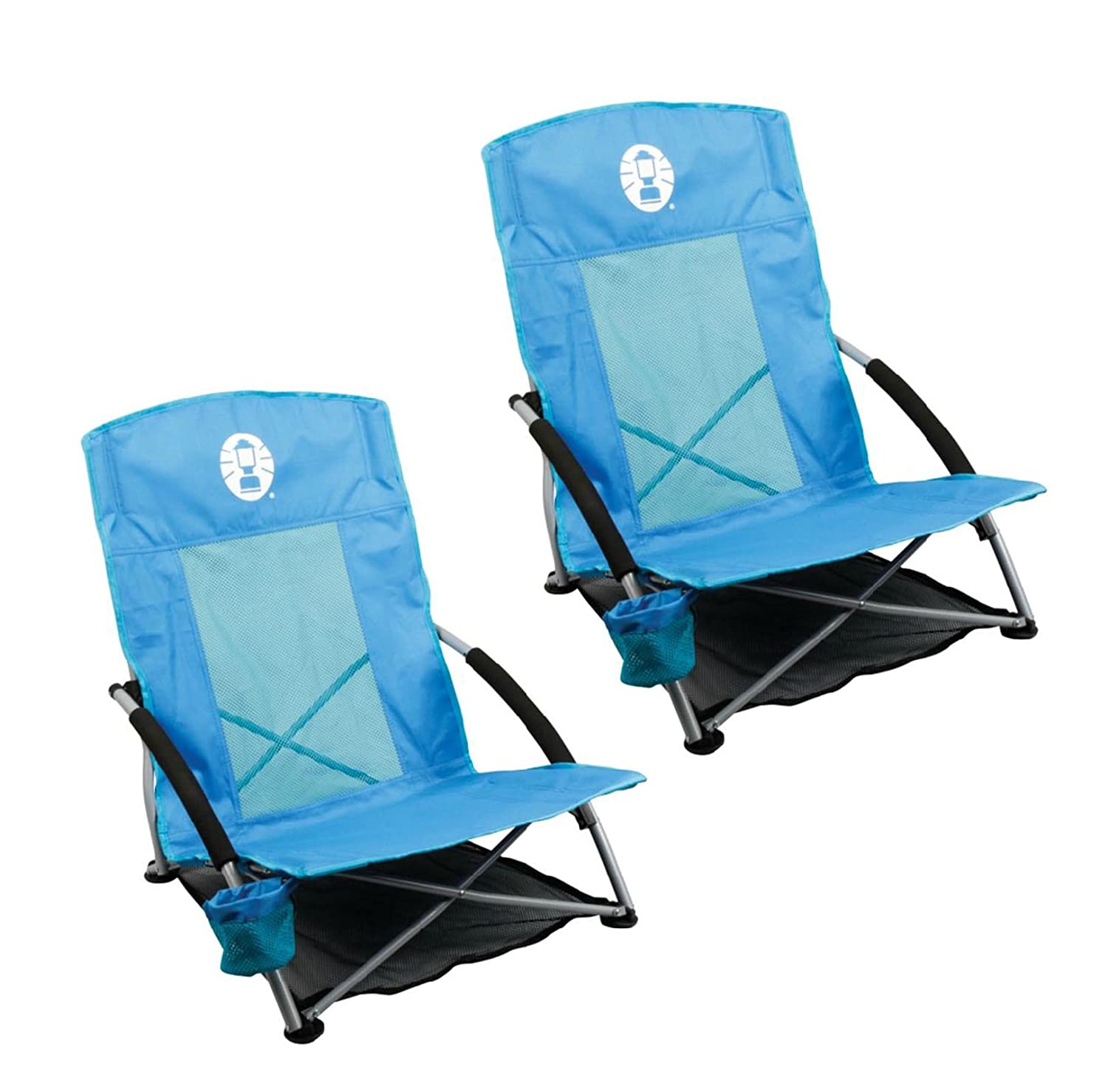 Amazon 2 COLEMAN Low Sling Day Trip Beach Camping Chairs w