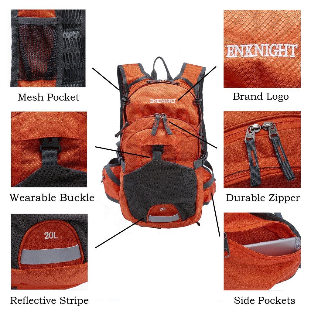 ENKNIGHT 20L Impermeable Mochila de Senderismo Paquete del Alpinismo ligero plegable resistente al agua mochila de viaje Escalada Marcha camping ciclismo ...