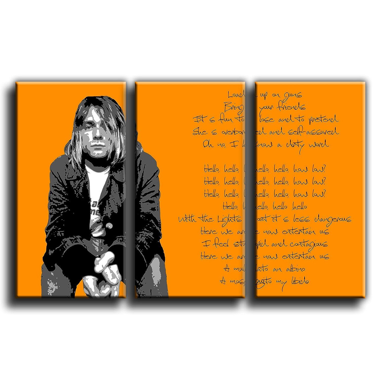Canvas Culture – Kurt Cobain Nirvana Gerahmter Kunstdruck auf ...
