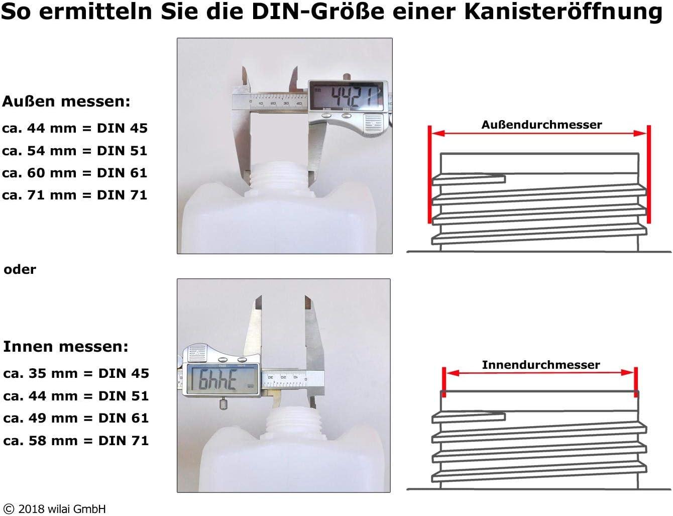 Dosificador Profi Power DIN 45 10 L grifo de llenado para bid/ón de 5 L