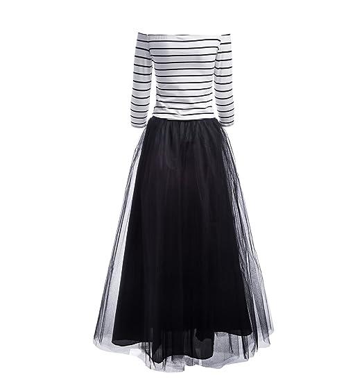 Winwinus Women Ball Gown Net Yarn Skirts Off Shoulder Blouse Outfits