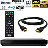 Sony X700 4K Ultra HD Blu-ray (w/HDR), Hi Res Audio Playback, Dolby Atmos, Dolby Vision, 4K UHD Up-Scale, 3D Playback, Dolby Digital TrueHD /DTS, TMVEL High-Speed HDMI Cable with Ethernet