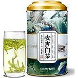 梅府茗家茶叶 绿茶 鲜甜回甘 正宗原产地雨前二级安吉白茶 大圆罐实惠装150g