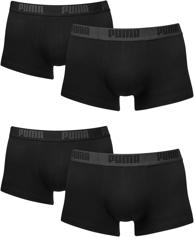 PUMA Hombres Basic Boxer Corto Boxer Shorts Ropa Interior 4 Paquete en Muchos Colores: Amazon.es: Deportes y aire libre