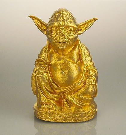 amazon com yoda buddha statue brilliant gold 6 home kitchen