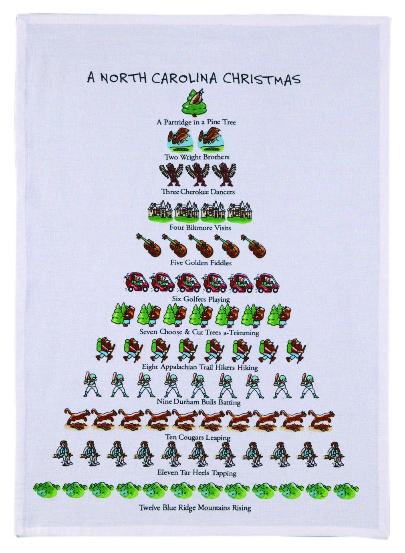 Amazon.com: Mistletoe & Co. a North Carolina Christmas Kitchen Towel ...