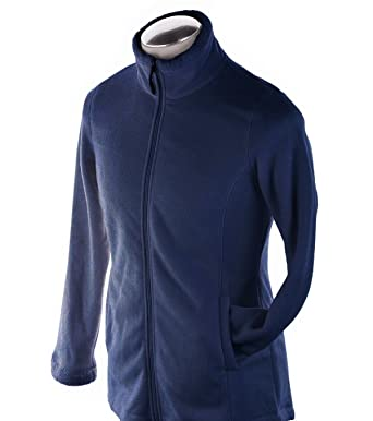 Image Unavailable. Image not available for. Color  Ideology Women s Navy  Blue Fleece Zip Jacket ... 7ba3085efb