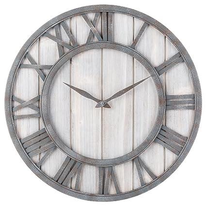 Amazon Oldtown Clocks OLDTOWN Farmhouse Metal Solid Wood