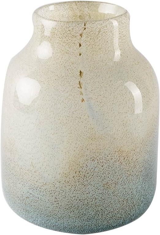 Amazon Com Mercana Kintyre Ii Tall Vase Large 5 3l X 5 3w X 8 0h Blue White Home Kitchen