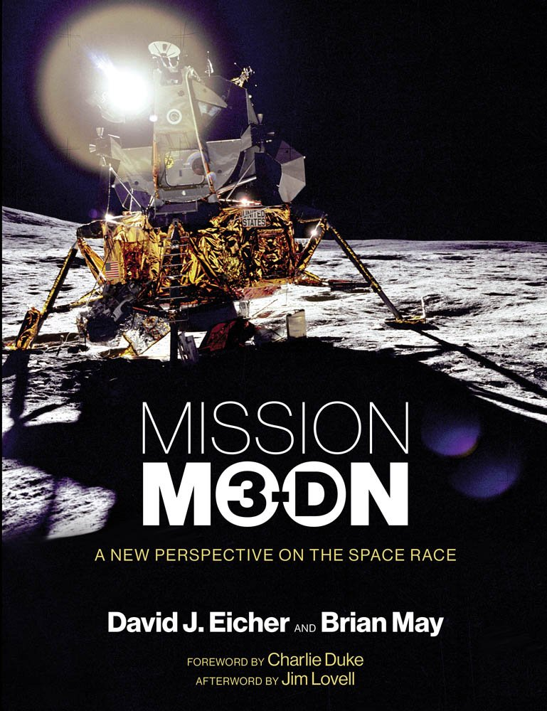 book cover: Mission Moon 3-D by David J Eichner and Brian May
