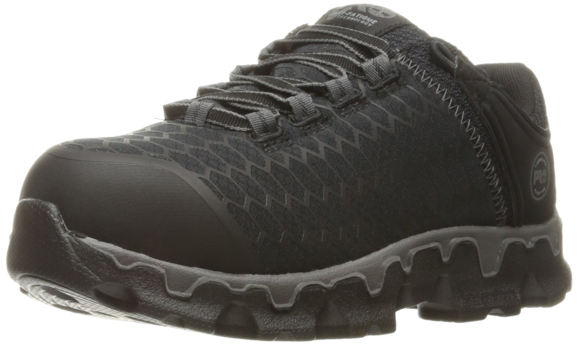 Timberland PRO Women's Powertrain Sport Alloy Toe SD+ Industrial and Construction Shoe, Black Synthetic, 7.5 W US