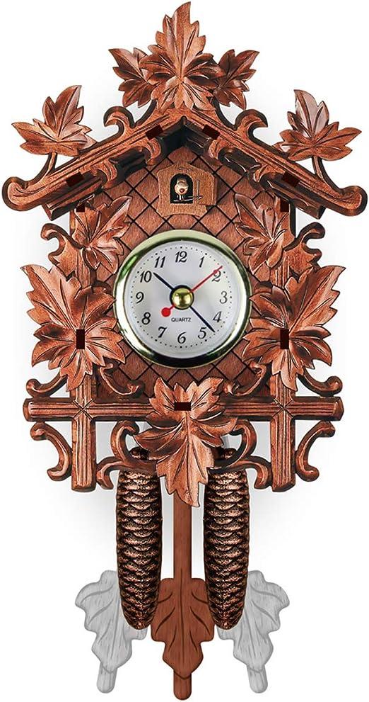 Handcraft Wood Cuckoo Wall Clock HouseTree Style Vintage Home Room Art Decor