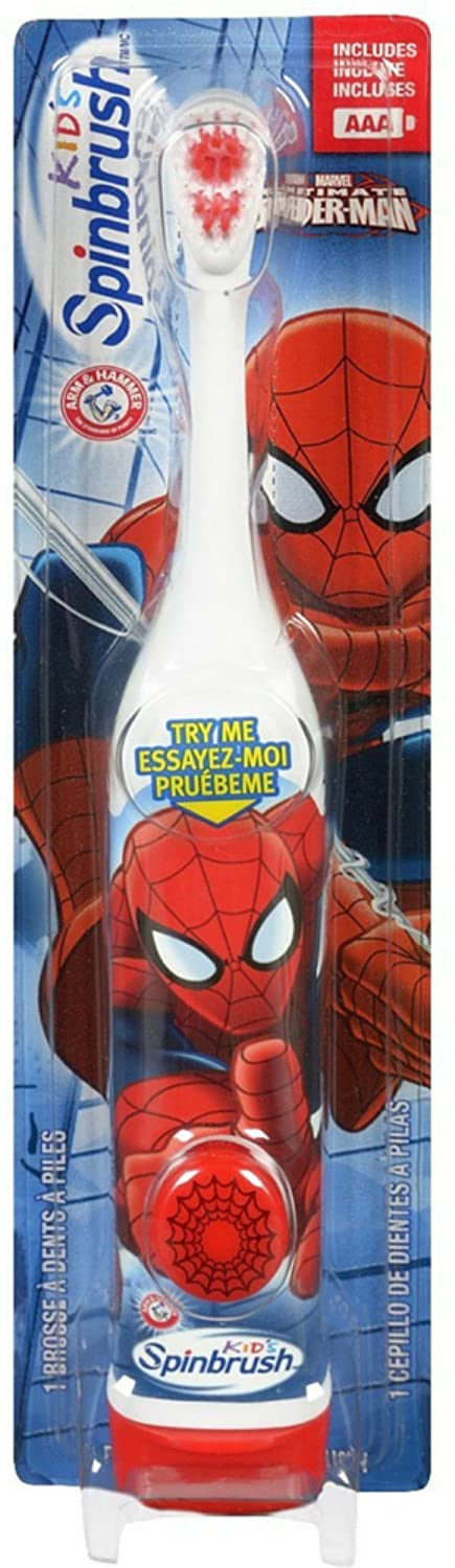 Amazon.com: ARM & HAMMER Kids Spinbrush Spiderman 1 Each (Pack of 3): Baby