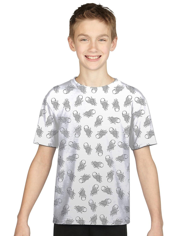 Venta caliente 2018 Calamar Mar Boys Fit Kids All Over Camiseta vacaciones  regalo color de la 59c3c73de5a