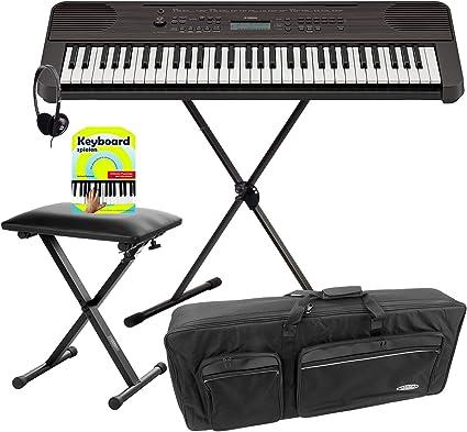 Yamaha PSR-E360 DW - Juego de teclado (61 teclas, soporte y ...