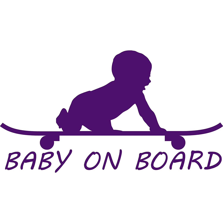 301 Auto Parts >> Baby Boy On Board Skateboard Vinyl Decal Sticker 301 Auto