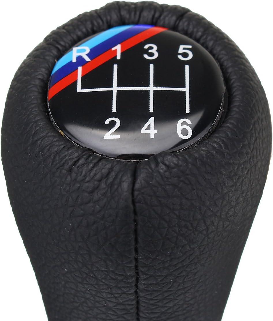6 Speed Manual MT Gear Shifter Lever Shift Stick Knob For E30 E32 E36 E46 E39 E34 Z3 E90 E91 E92 X1 X3 X5 Black Silver Shift Knob