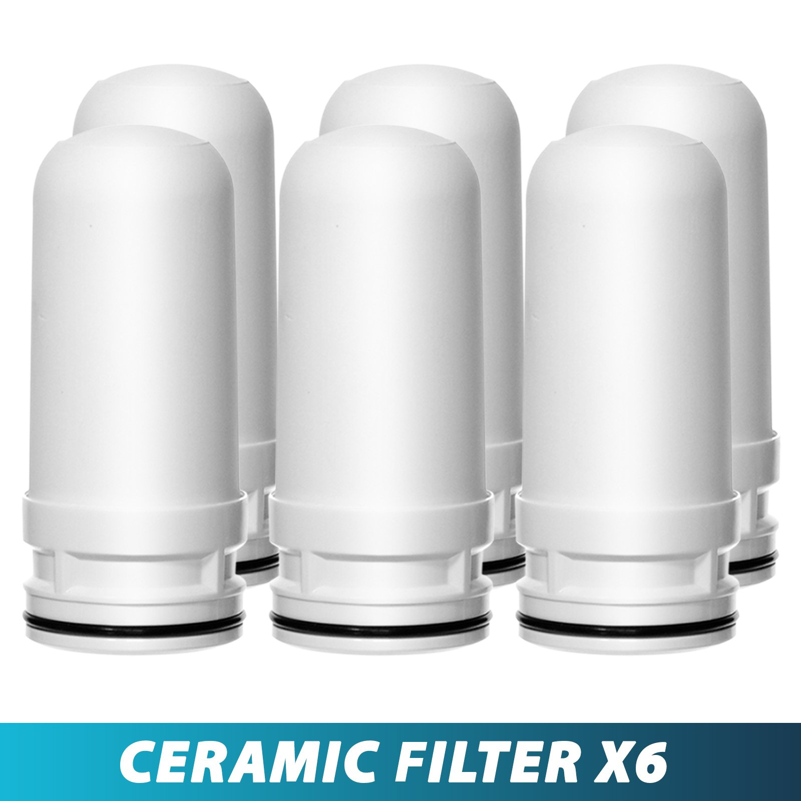 Ceramic Replacement Cartridge for LittleWell Faucet Mount Water Filters DFC1, DFW1, DFW2 (Pack of 6)…
