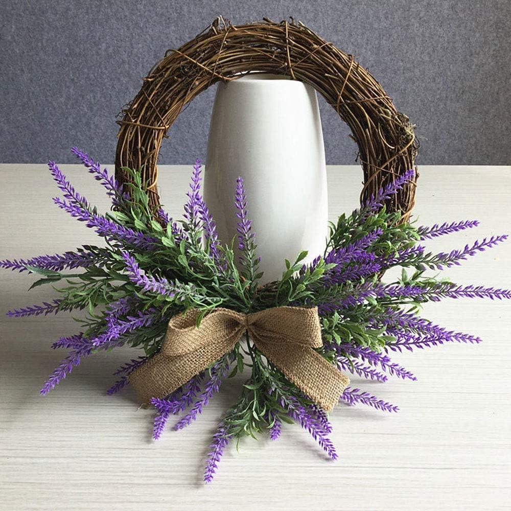 Handwork Lavender Door Wreath Flowers Floriation Hanging Pendant background for The Front Door FOCCTS Artificial Wreath Home Wedding Decoration Photo Props
