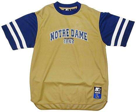 on sale 012b9 48867 STARTER Notre Dame Fighting Irish Youth Performance Established Gold T-Shirt  Large 16-18