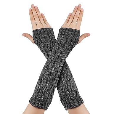 vendita professionale seleziona per il più recente 100% autenticato Richoose Guanti Donna Invernali Inverno Guanti senza dita maglia lunghi  Manicotti
