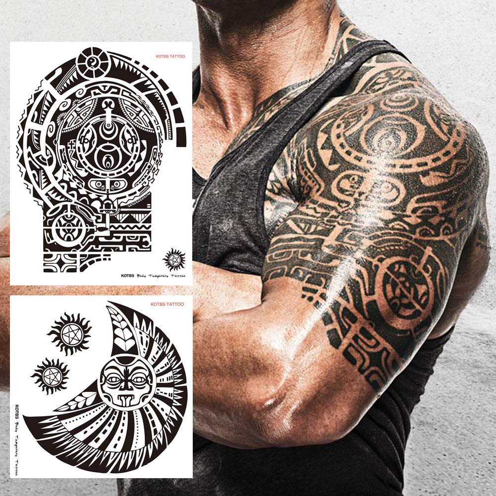 Kotbs 2 Pcs Large Dwayne Johnson Totem Tattoo Sticker Big Size Temporary  Tattoos for Men 3D Rock Star Body Art Waterproof: Amazon.in: Beauty