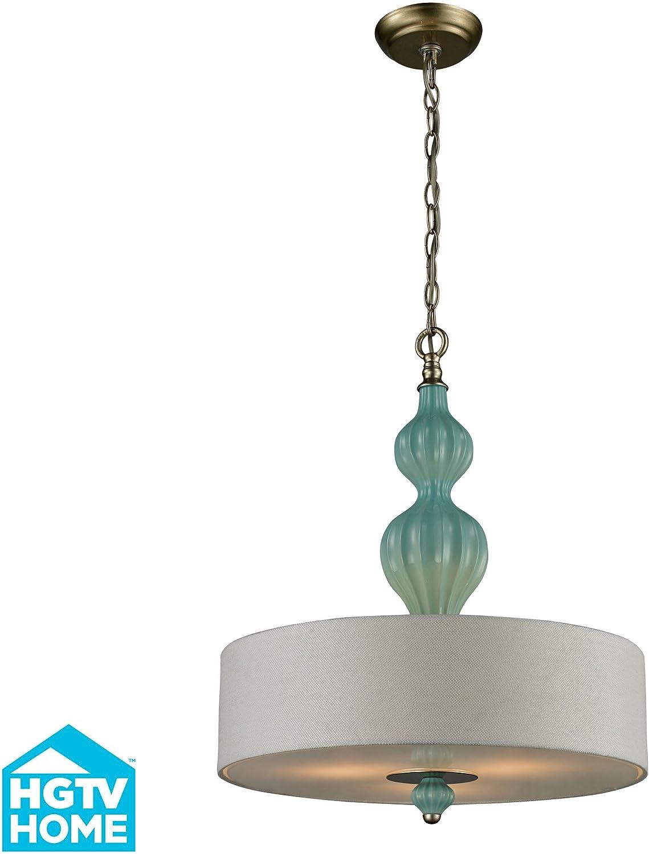 Lilliana 3 Light Pendant In Seafoam And Aged Silver Ceiling Pendant Fixtures Amazon Com