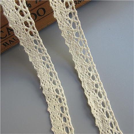 5Yards Elasticity Cotton Crochet Lace Trim Wedding Ribbon Sewing Craft 1.5CM