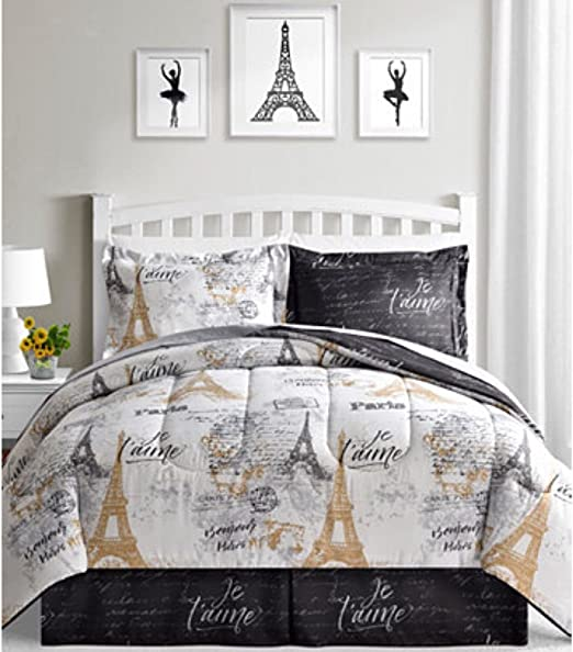 Amazon.com: BonJour Paris, Eiffel Tower, Black, White & Gold