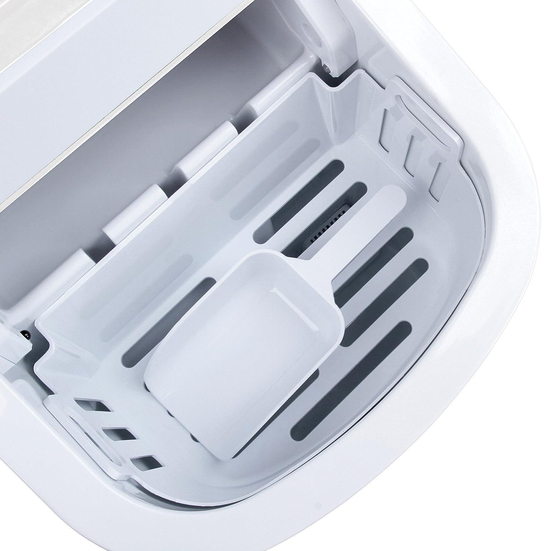 Jago - Máquina para hacer hielo con pala para cubitos - volumen aprox. 2,2 litros: Amazon.es: Hogar