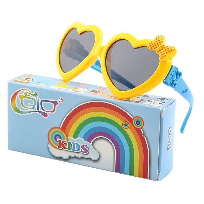 CGID gafas de sol polarizadas de goma suaves en forma de corazón con ...
