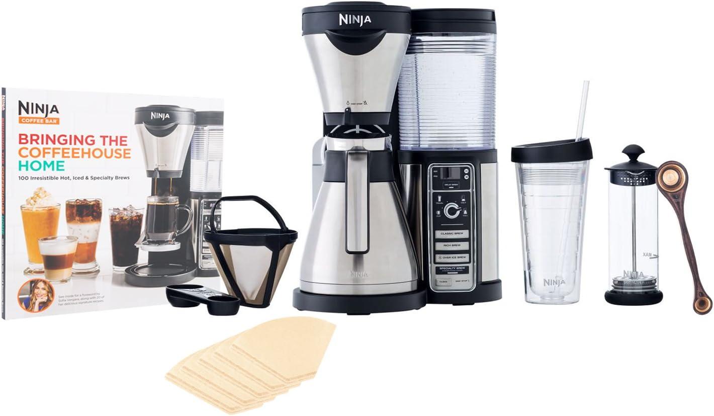 Ninja Coffee Bar Brewer, Thermal Carafe (CF085Z) with Bonus Exotic PakkaWood Coffee Scoop