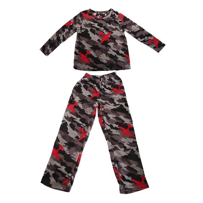 6ce8bbff1a Pijama de Manga Larga con Estampado de Camuflaje para niño (9 10 años)