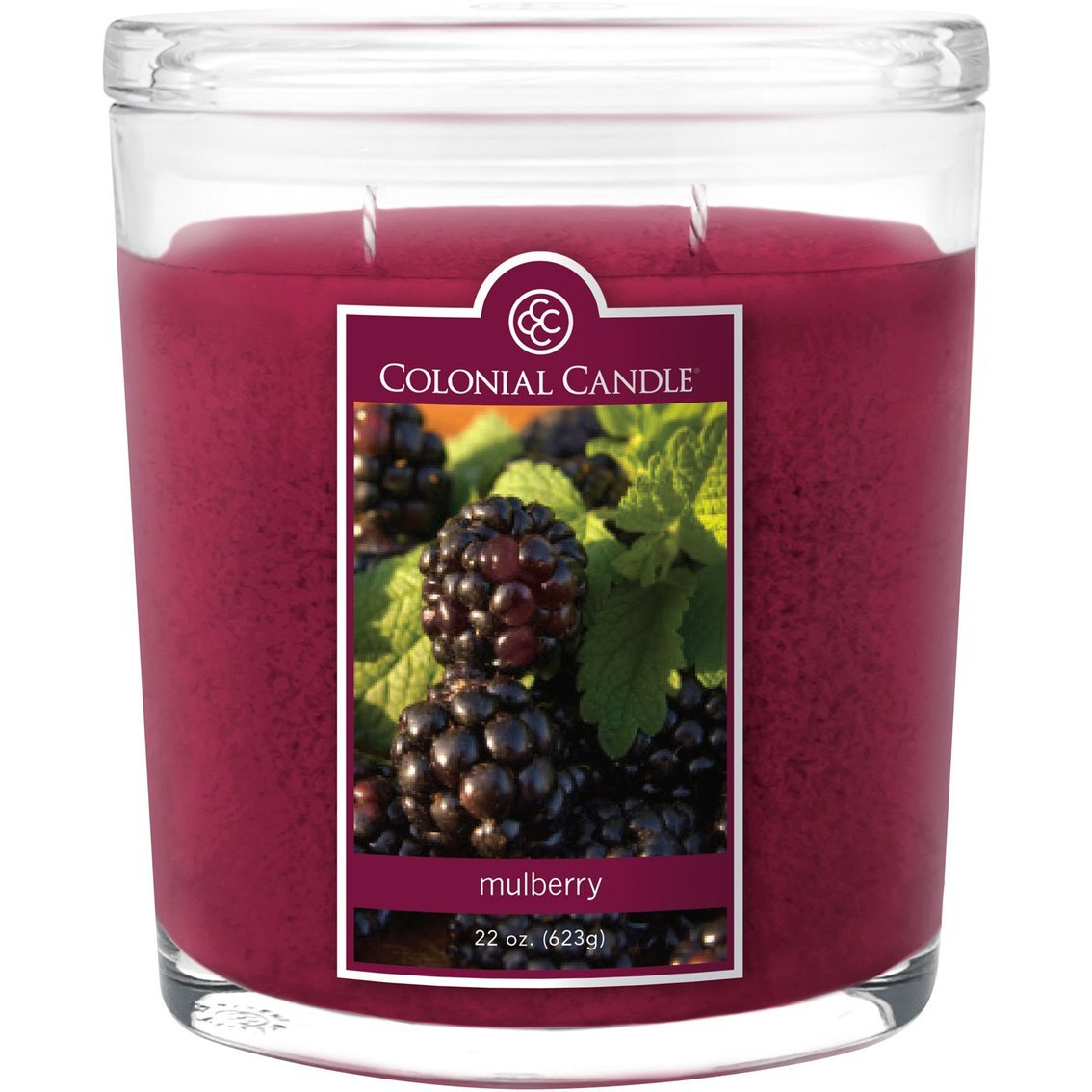 083bca4842 Amazon.com  Colonial Candle Mulberry 22 oz Scented Oval Jar Candle  Home    Kitchen
