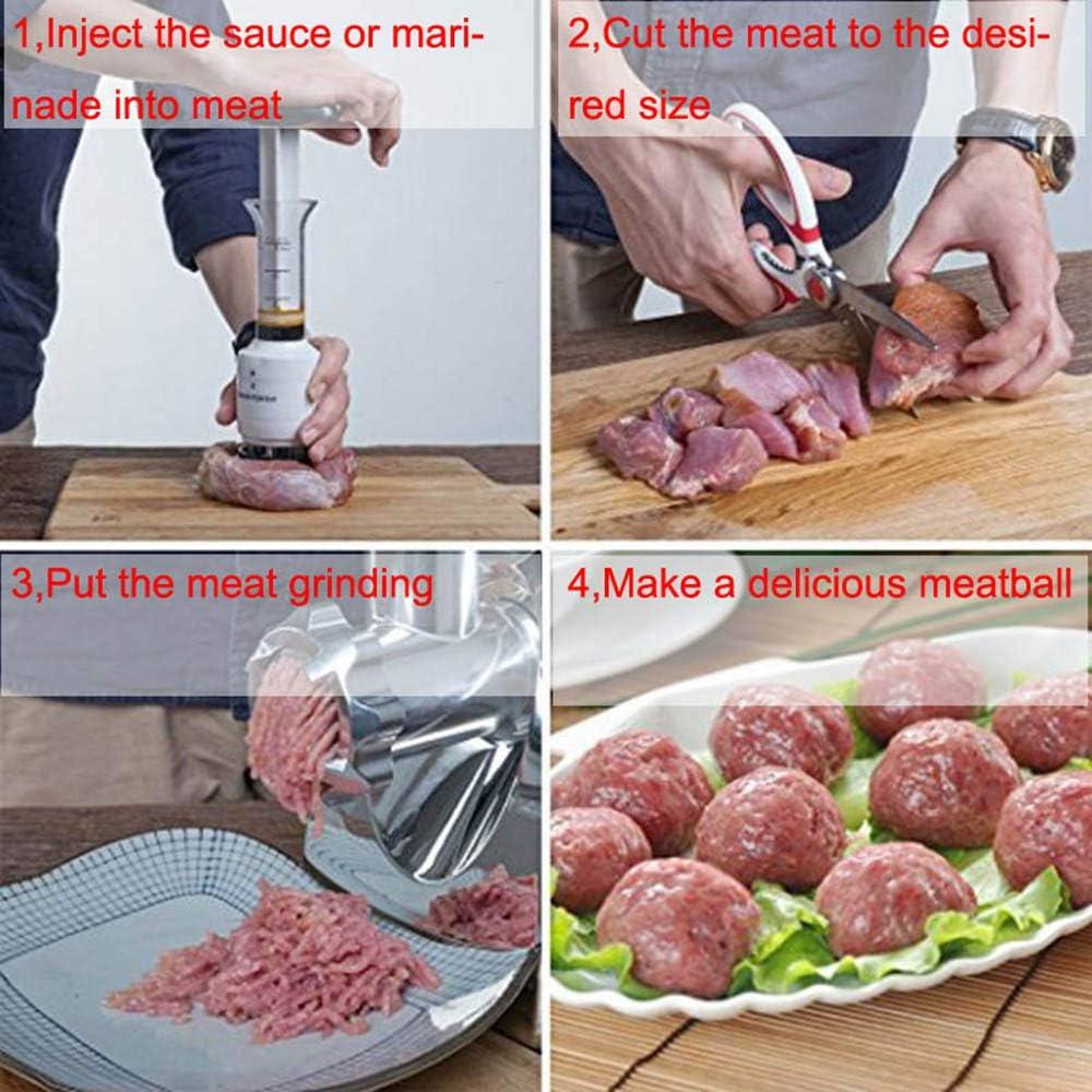 horen Aguja de Ablandador de Carne de Acero Inoxidable Inyector de Salsa Marinator Y Ablandador de Carne para Ablandar Carne Cocinar