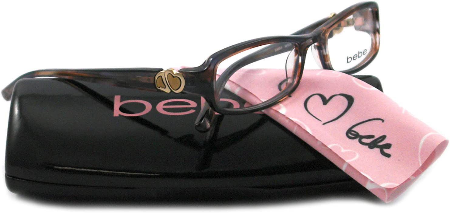 d3402522cdd4 Amazon.com  Bebe Eyeglasses BB 5024 BROWN 002 LATTE BUBBLE  Bebe ...