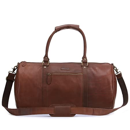 1eb71b83c06b JoeBo Leather Holdall Weekend Leisure Sports Bag JB2004 (Waxy Light Brown)   Amazon.co.uk  Luggage