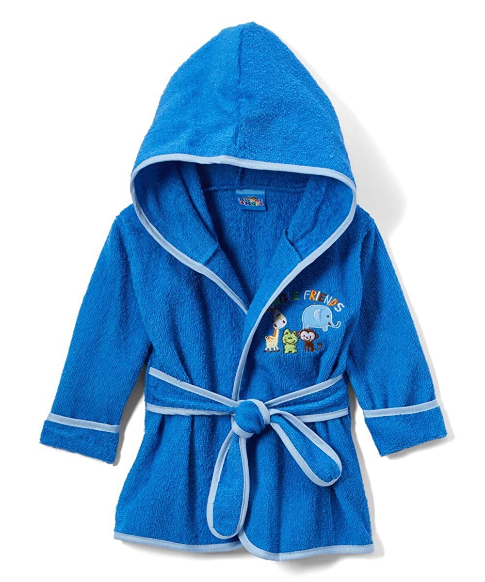 Sweet & Soft Baby Boys Cotton Terry Bathrobe Jungle Friends