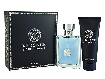 Amazon.com : Versace Pour Homme Men Gift Set (Eau De Toilette ...