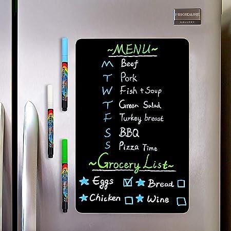 Shopping//to do//menu Nevera Imán Cocina Tiza Negro Memo mensaje tablón de anuncios