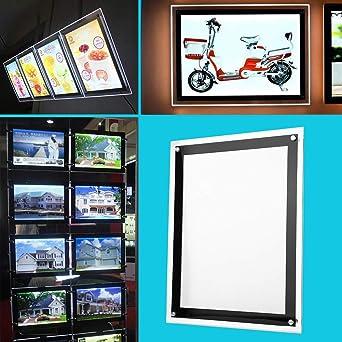 Cajas de Luz LED de Acrílico, Cinematográfica Panel Publicitario Calle Soporte para Publicitario Caballete Expositor