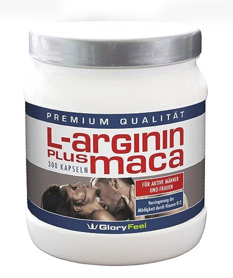 Polvo de Maca Más Arginina – concentrado y puro -1500 mg de L-Arginina