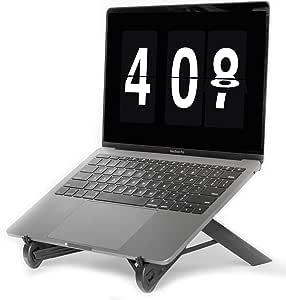 NEXSTAND K7 Lite // New Portable Laptop Stand // Foldable Desktop Notebook Holder Mount- Eye-Level Ergonomic Height Design // Laptop Riser for Notebook, Laptop, iPad and Tablet