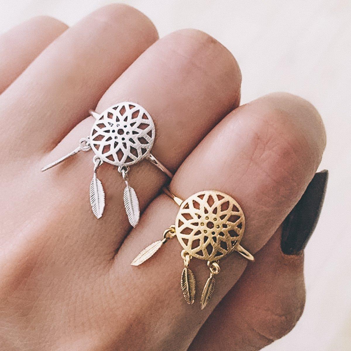 Anello Acchiappasogni - Regolabile - Color Oro, Argento - Idea regalo