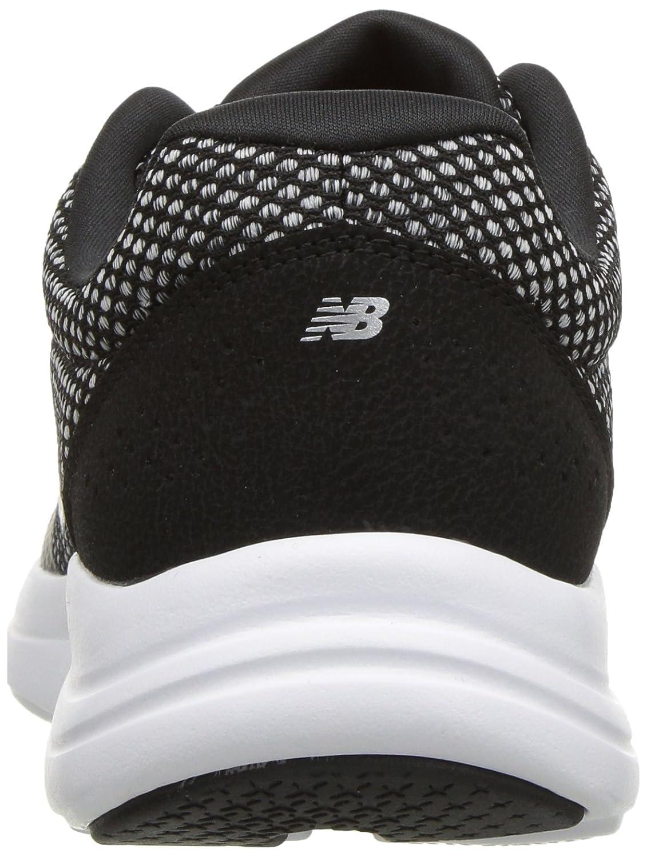 New Balance Running Women's Versi v1 Cushioning Running Balance Shoe B0751SMH74 5.5 B(M) US|Black/Silver e24495